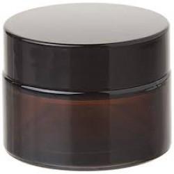 BLACK GLASS CREAM JAR