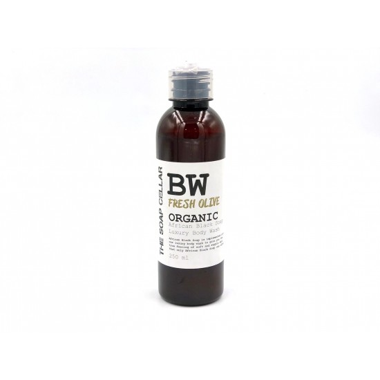 FRESH OLIVE BODY WASH WITH ORGANIC AFRICAN BLACK SOAP